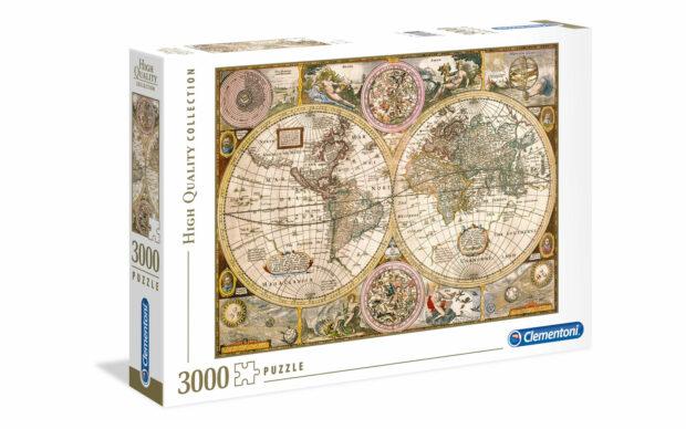 Starinski zemljevid- Clementoni sestavljanka/puzzle, 3000 kosov