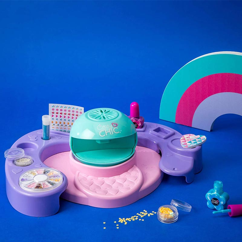 Set za oblikovanje nohtov, Crazy Chic, Clementoni
