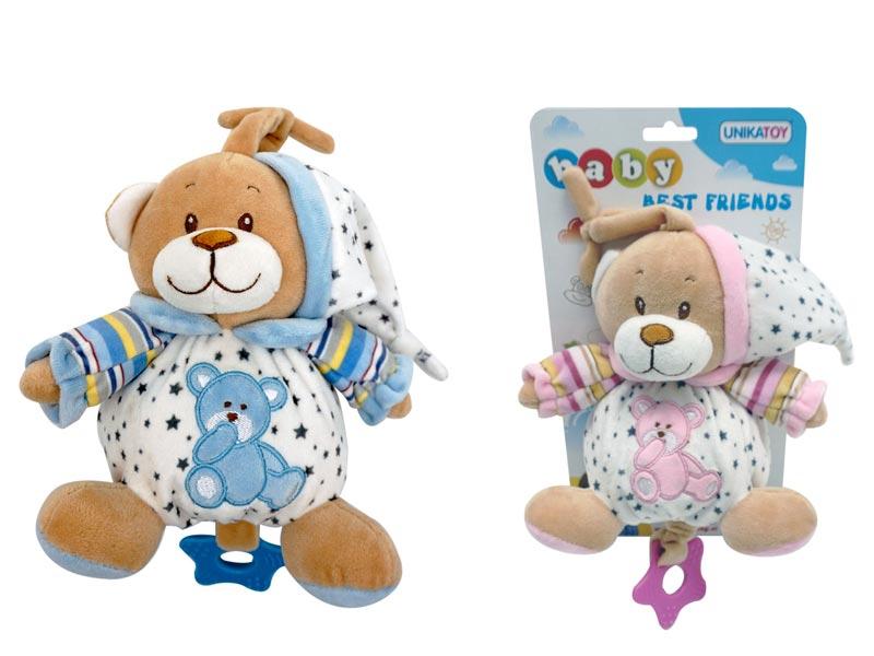 Baby-medvedek-na-poteg-z-zvezdicami,-16-cm,-Unikatoy
