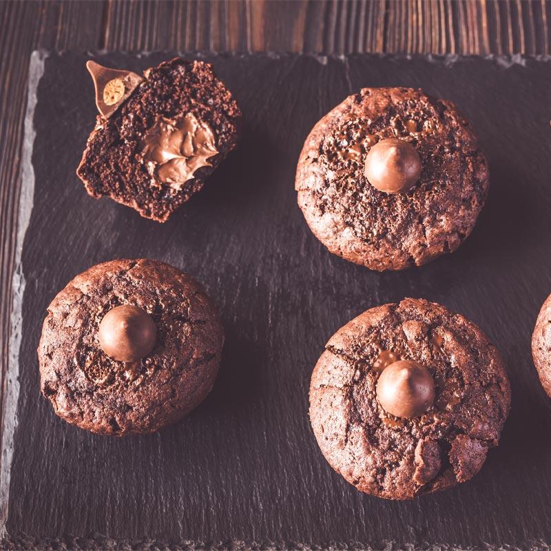 Čokoladni muffini z nutello