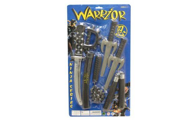 Ninja orožje Warrior, set-Poškodovana embalaža