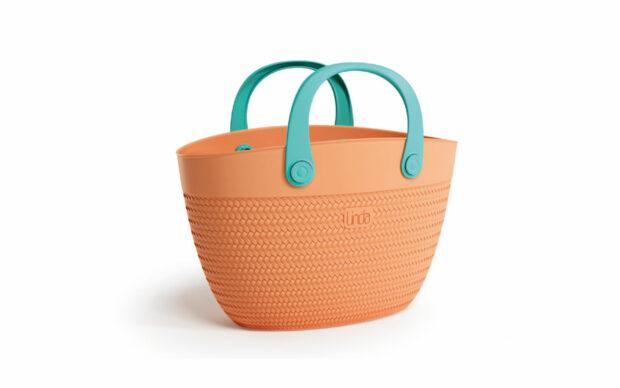 Torba za na plažo s PVC ročajem - Oranžne barve, Adriatic