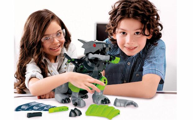 Robot v obliki zmaja, na baterije, Clementoni-2