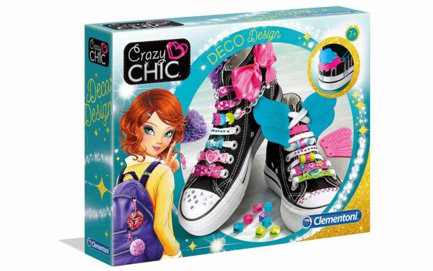 Deco design za vezalke, Crazy Chic-Clementoni-Poškodovana embalaža