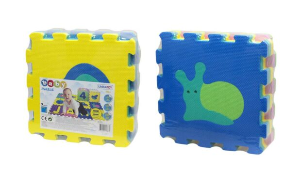 Baby penaste puzzle z motivom živali, 9 kos, Unikatoy-Poškodovana embalaža