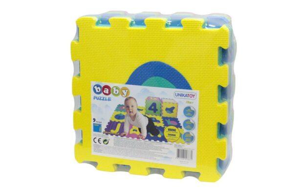 Baby penaste puzzle z motivom živali, 9 kos, Unikatoy-Poškodovana embalaža-2