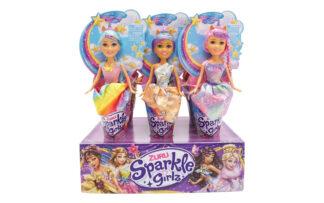 Punčka princesa Unicorn v kornetu Sparkle Girlz, 27 cm, Zuru