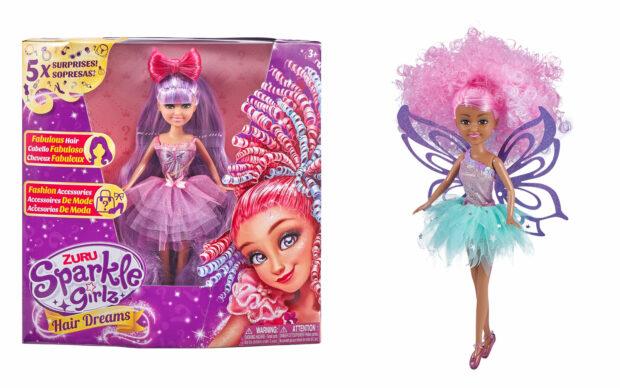 Set punčke Sparkle Girlz-lasje, 27 cm, Zuru