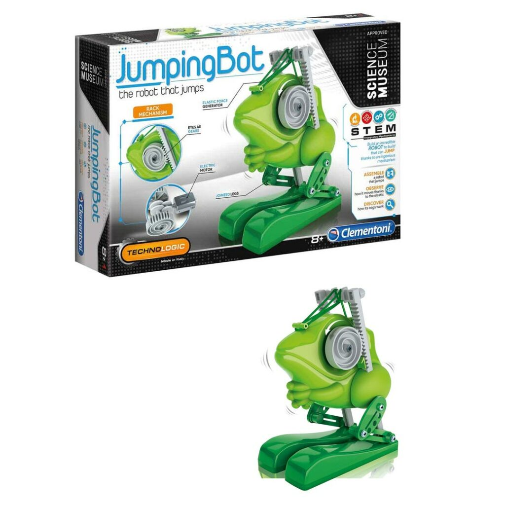 Robot Jumping Bot, Žaba, na baterije, Clementoni
