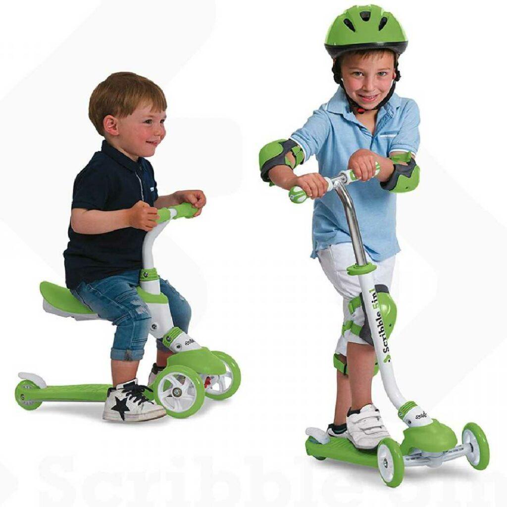Tricikel- Skiro z ročajem 5v1, zelene barve, Mondo