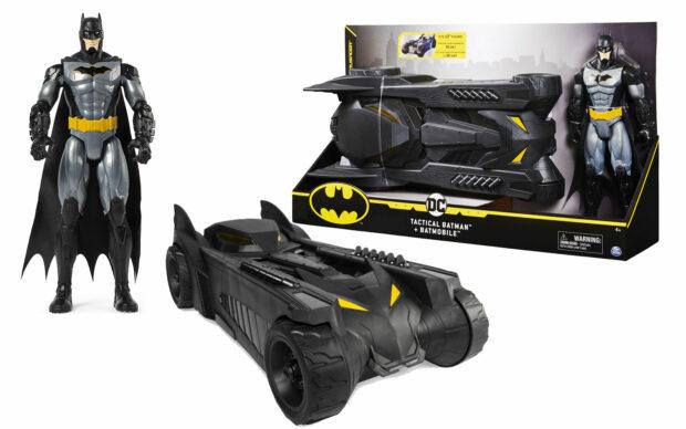 Figura Bat-tech Batman z vozilom Batmobile, 30 cm