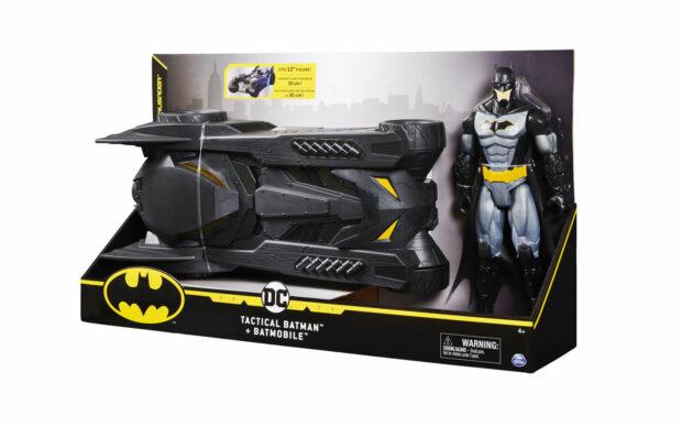 Figura Bat-tech Batman z vozilom Batmobile, 30 cm-4