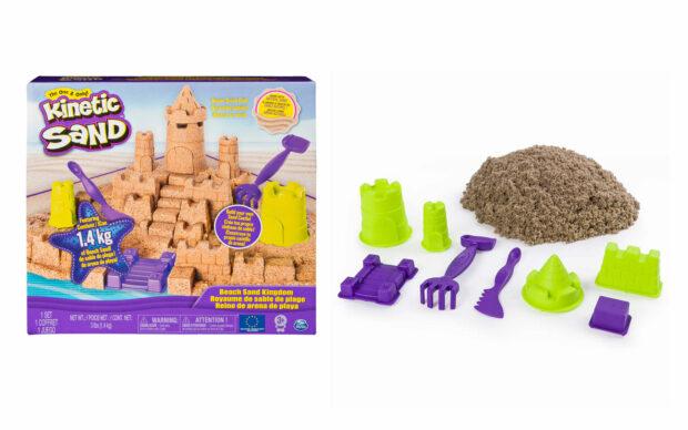 Kintetični pesek za oblikovanje gradu, set
