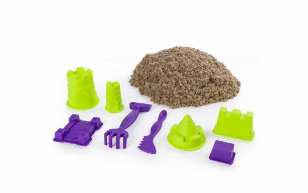 Kintetični pesek za oblikovanje gradu, set-1