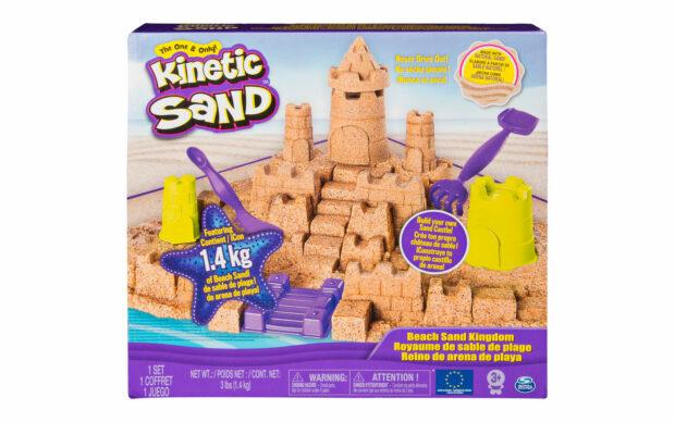Kintetični pesek za oblikovanje gradu, set-3