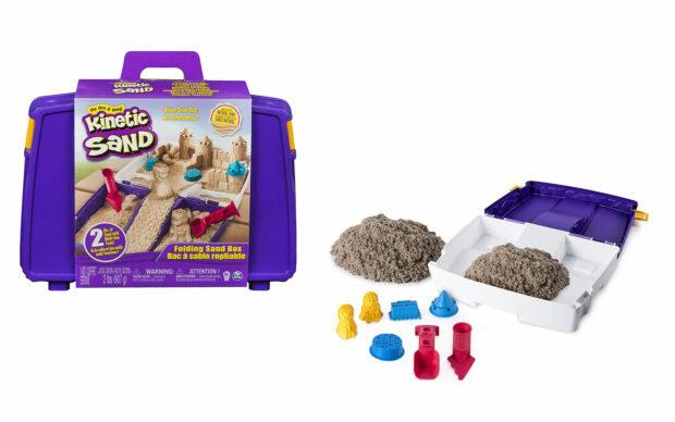Kintetični pesek v kovčku, set