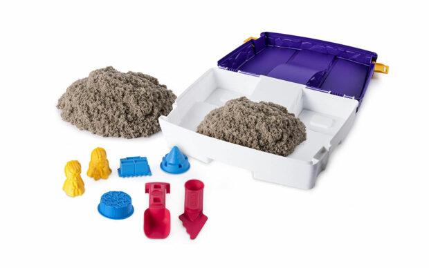 Kintetični pesek v kovčku, set-1