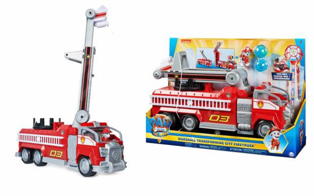 Gasilsko vozilo Marshall transforming City Firetruck, Paw Patrol, set