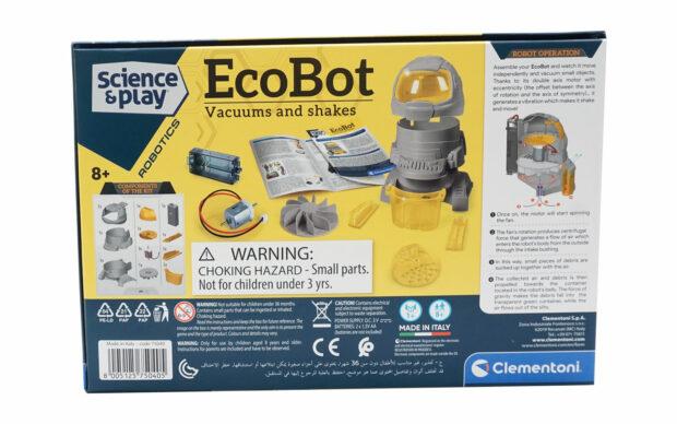Robot Ecorobot, sesalec, na baterije, Clementoni-Poškodovana embalaža-3