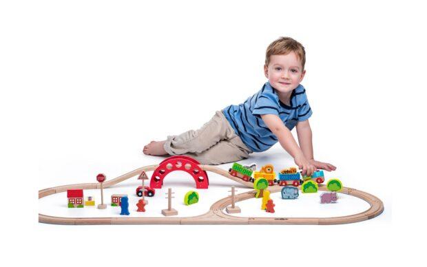 Garnitura lesenega vlaka z živalicami,Woody-Poškodovana embalaža-3