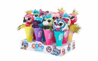 Plišaste živalice Coco Cones - Neon