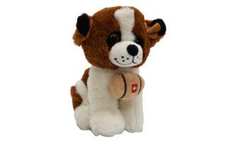 Plišasti sedeči kužek Bernardinec, 25 cm