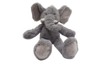 Plišasti sedeči slonček, 23 cm