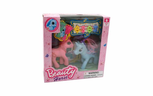 Konj Pony Beauty, 2 kosa, set-1