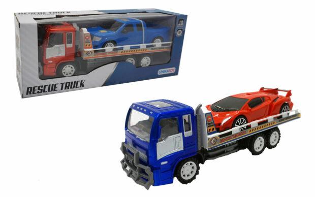 Kamion z avtovleko, 33 cm + vozilo, Unikatoy