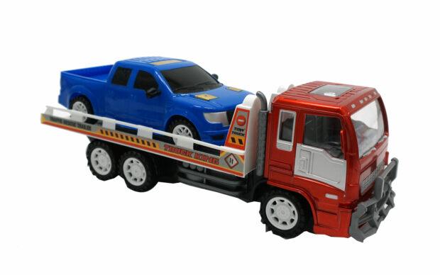 Kamion z avtovleko, 33 cm + vozilo, Unikatoy-1