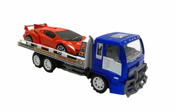 Kamion z avtovleko, 33 cm + vozilo, Unikatoy-2