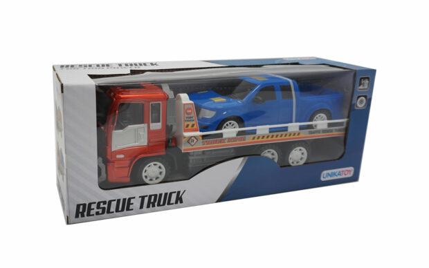 Kamion z avtovleko, 33 cm + vozilo, Unikatoy-3