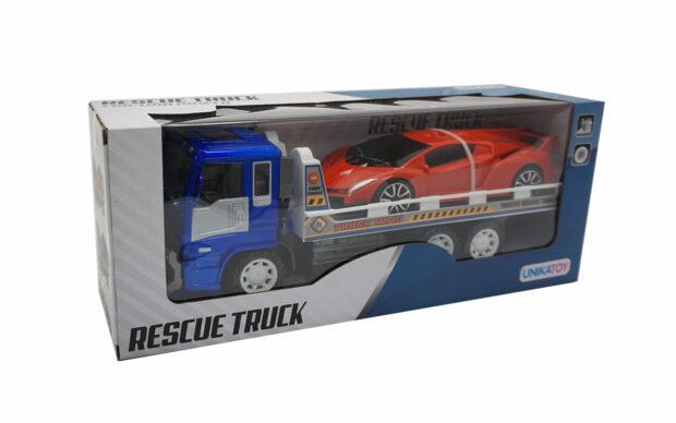 Kamion z avtovleko, 33 cm + vozilo, Unikatoy-4