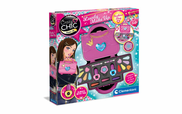 Torbica z make-up ličili, Crazy Chic, Clementoni-Poškodovana embalaža